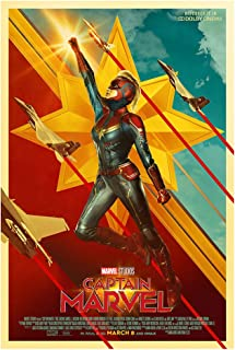 "Captain Marvel (Brie Larson, 2019) International Dolby Cinema Movie Poster (Version 3) - Size 24""X36"" - This is a Certified Poster Office Print with Holographic Sequential Numbering for Authenticity."