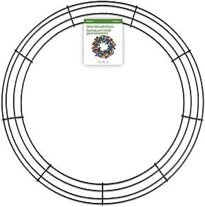 FloraCraft Wire Wreath Form 18 Inch Green