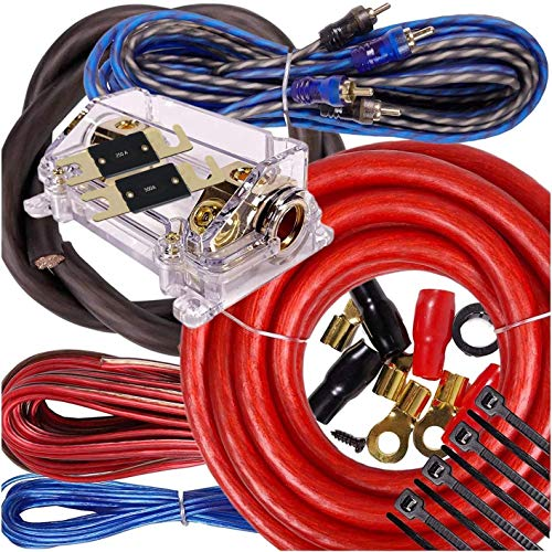 Complete 5000W Gravity 0 Gauge Amplifier Installation Wiring Kit Amp Pk2 0 Ga Blue - for Installer and DIY Hobbyist - Perfect for Car/Truck/Motorcycle/Rv/ATV