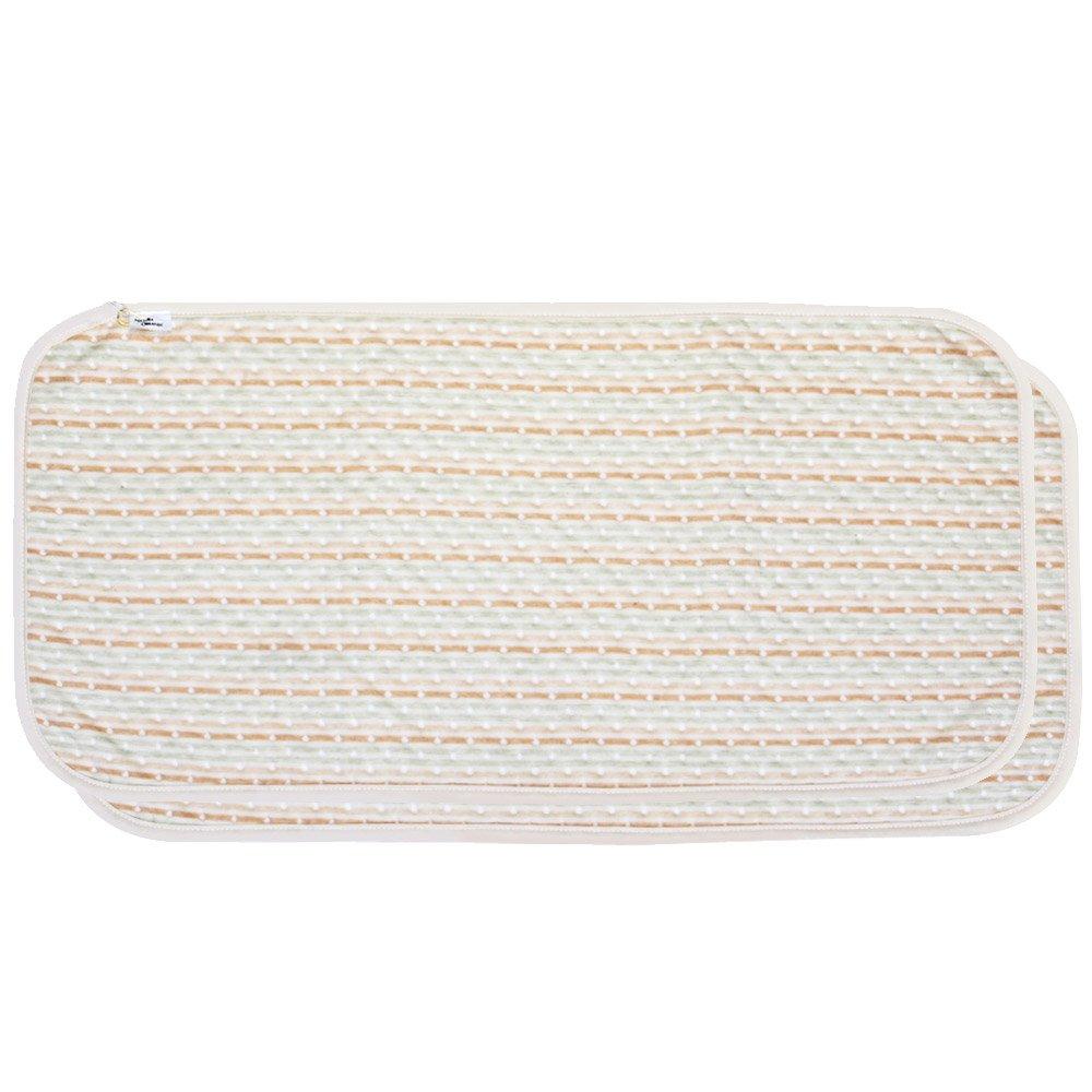 Portable Waterproof Diaper Changing cushioning Pad Bamboo Cotton Mat (2 Count)