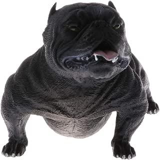 CAMLEO American Bully Pitbull Door Guard Fake Dog Figurines Small Plastic Animal Model Ornament Statue Home Decor Gift