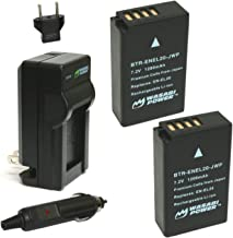 Wasabi Power Battery (2-Pack) and Charger for Nikon EN-EL20, Nikon EN-EL20a, Nikon Coolpix A, Nikon 1 AW1, Nikon 1 J1, Nikon 1 J2, Nikon 1 J3, Nikon 1 S1, Nikon 1 V3, and Blackmagic Pocket Cinema Camera