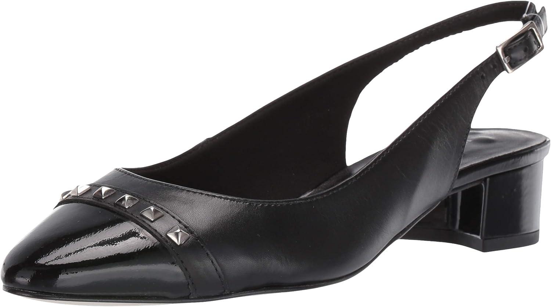 Walking Cradles Womens Hildee Black Leather Patent 6.5 WW (EE)