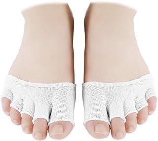 4 Pares de Calcetines Toe Topper Calcetines de Tacón Alto Calcetines Medias Medias sin Costuras Medias Antideslizantes Medias para Mujer (Caqui)