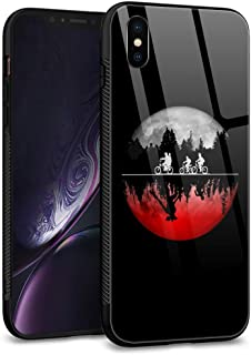 iPhone Xs MAX Case,Tempered Glass Back Shell Pattern Designed with Soft TPU Bumper Case for Apple iPhone Xs MAX Cases -Bicycle Monster