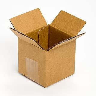 Pratt PRA0001 Recycled Corrugated Cardboard Single Wall Standard Cube Box with C Flute, 4