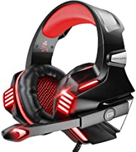 Best VersionTECH. Gaming Headset for PS5/ PS4/ Xbox One/PC, Noise Canceling Over-Ear Headphones with Mic, LED Lights & Volume Console for Xbox 1 S/X, Playstation 5/4/Slim/Pro, Switch, Computer -Red Review