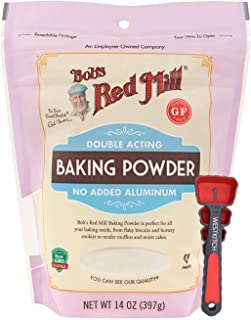 Bob's Red Mill Baking Powder 14 Ounce Double Acting Baking Powder No Added Aluminum Bundle with Swivel Measuring Spoons by...