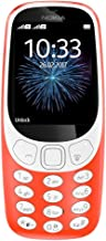 Nokia 3310 3G Unlocked Feature Phone (AT&T/T-Mobile) - 2.4in Screen - Warm Red (Renewed)