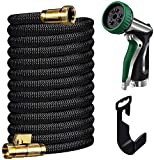 Gamegie Garden Hose 100 ft,Expandable Garden Hose with Spray Nozzle &Car Washing Nozzle