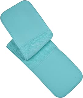 VEEYOO 100% Cotton Double Oven Mitts, Heat Resistant Double Oven Glove/Moppine Long 35x7.5 for Kitchen, Terry Cloth Pot Holders, Aqua Blue