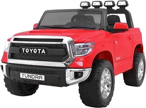 BSD Coche Electrico para Niños Auto Alimentado con Batería Vehículo Eléctrico Control Remoto - Toyota Tundra - rojo