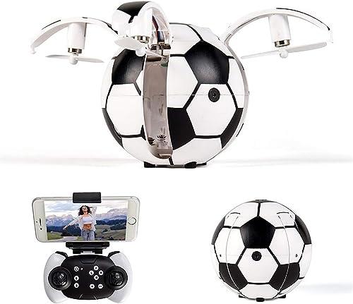 Aegilmc Jouets de Ballon Volant RC, Mini-Drone de Football, hélicoptère rougeatif à 360 ° à Trois Vitesses à Six Axes Pliable avec Mains intérieures, avec Cadeaux de fête pour Garçons,withcamera,100cm