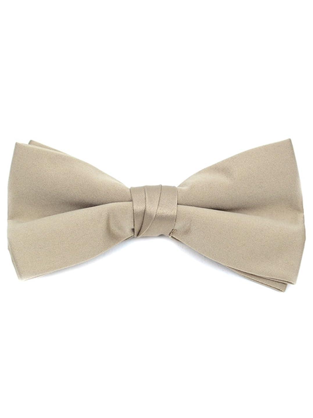 Young Boy's Pre-tied Clip On Bow Tie - Formal Tuxedo Solid Color