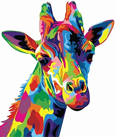 Giraffe Paint By Numbers Kit
