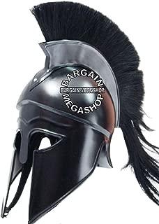 Medieval Roman Spartan GREEK CORINTHIAN HELMET Larp Sca Role-Play Armor Helmet Greek Corinthian Helmet with black Plume & Black Finish