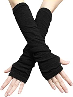 uxcell Unisex Classic Fashion Stretch Fingerless Arm Warmmer Oversleeve