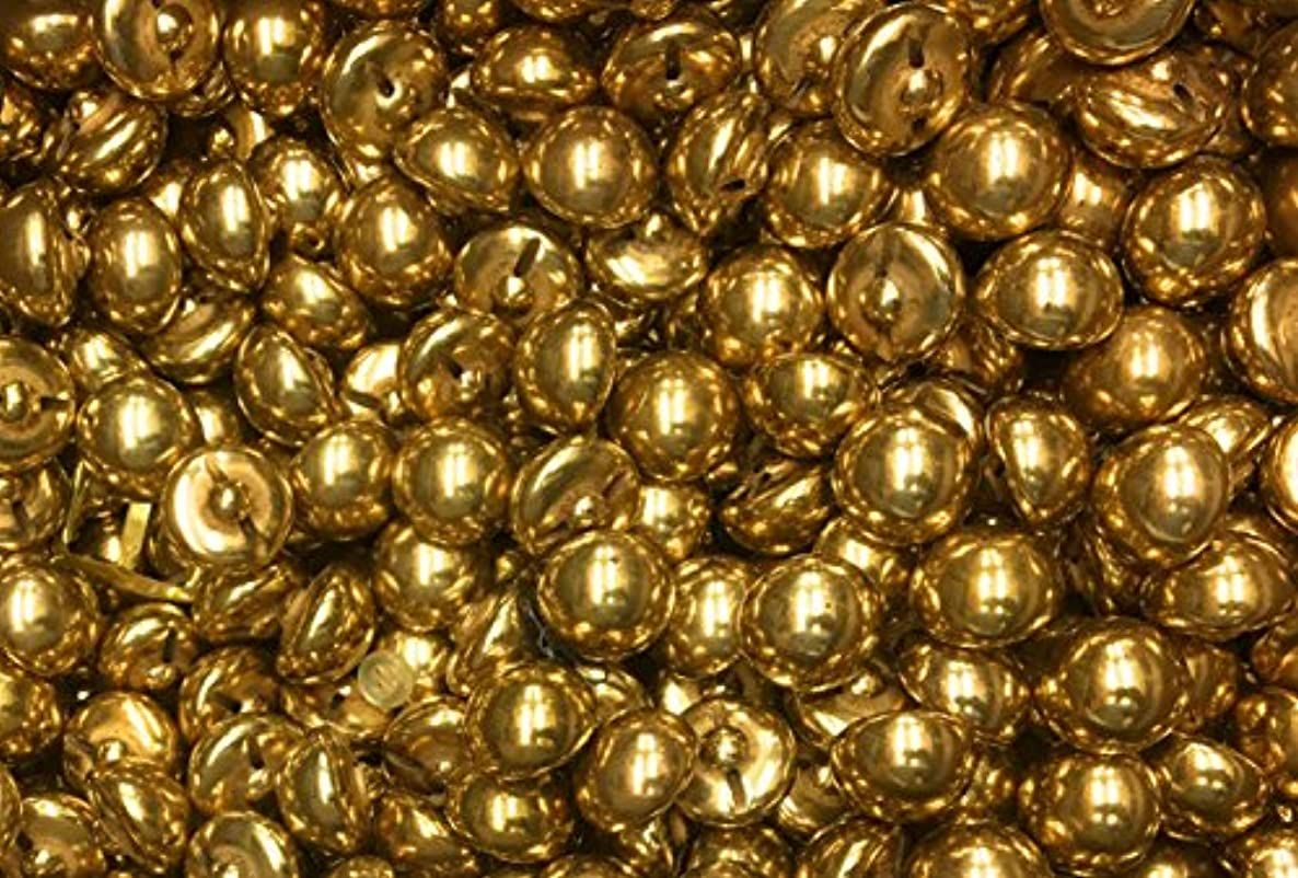 100 Gold Button Half Ball for Crafts , Custome, Clothing