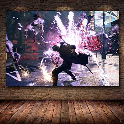 mmzki Juego en línea 3D Decoración de póster Pintura en Lienzo de HD Pintura de Lienzo Arte póster Imagen del Juego U