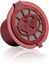 i Cafilas Reusable Coffee Capsules Refillable Pods Filter Compatible with Nespresso Coffee Makers 6pcs (Red)