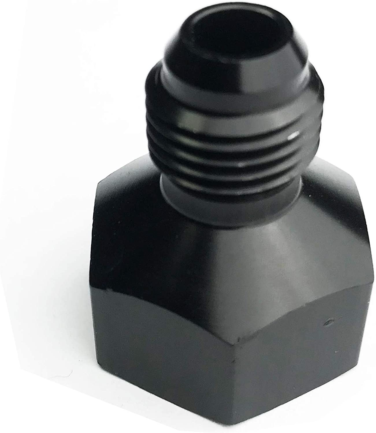 6AN Female to 4AN Male Flare Reducer Fuel Line Hose Fitting Adapters Aluminum Reducing Pipe Anodized Black