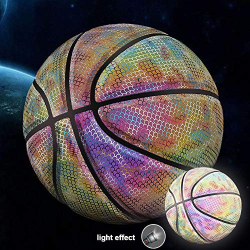 Great Features Of Jungles Light Up Basketball, Glow in The Dark Basketball, Sunshine Powered Rainbow...