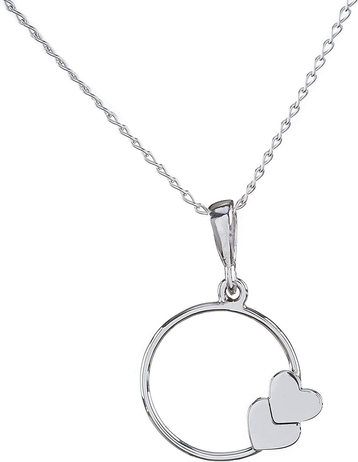 Al sold out. A ARMARIO Jewelry - 2 Hearts .925 Necklace New mail order Silver Charm Sterling