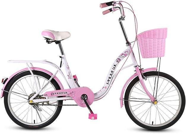 Bicicletas Niños Carro De Niña De 18 Pulgadas Plegable para Mujeres Silla De Paseo para Niños De 8 A 12 Años Ciclismo Al Aire Libre Scooter De Carretera para Niños El Mejor