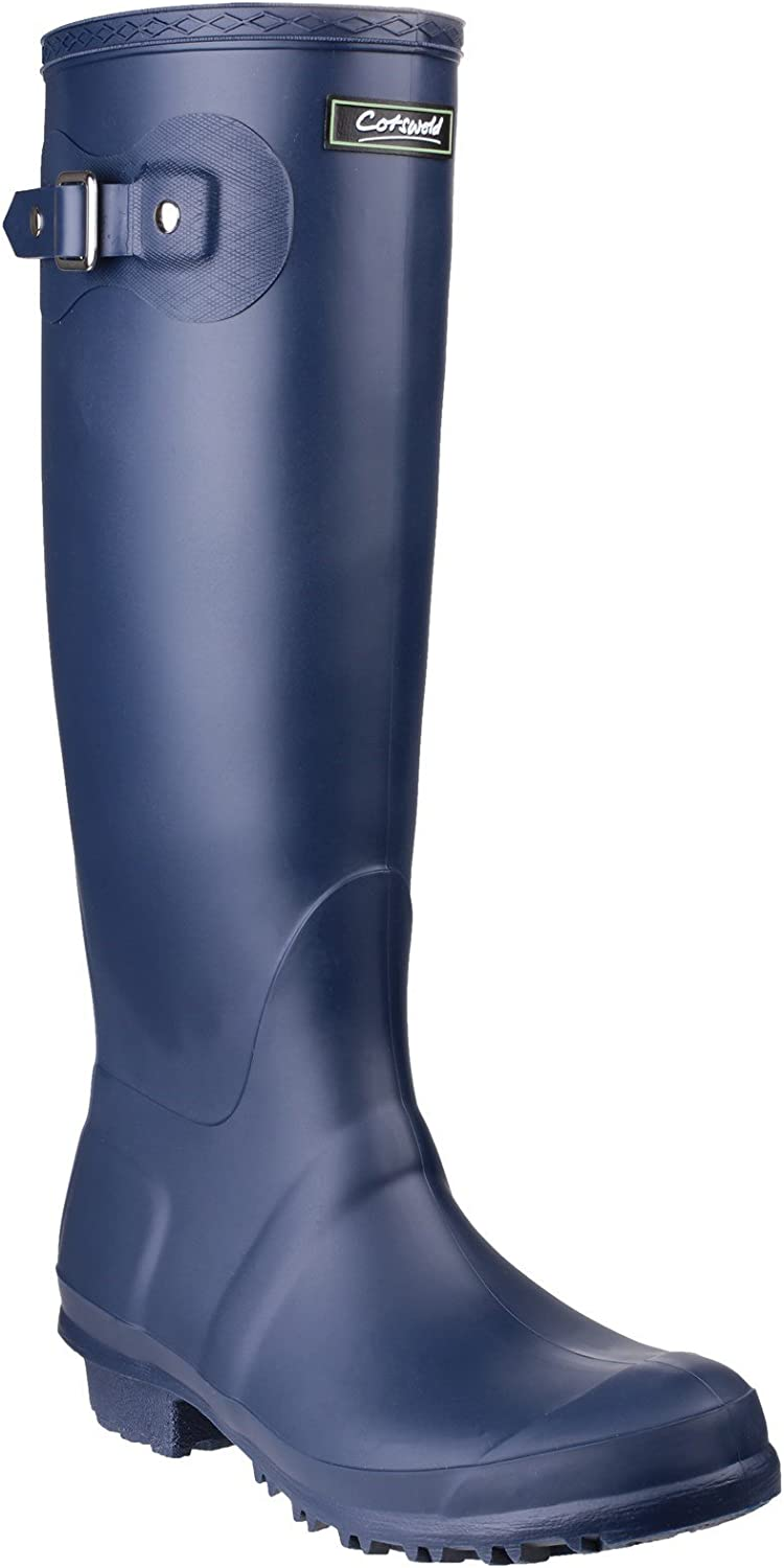 Cotswold womens Cotswold Ladies Sandringham Buckled Welly Wellington Boot Navy Navy PVC UK Size