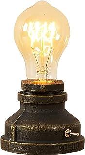INJUICY luminaire Industriel Rétro Edison Lampe de Table E27 Douille en Métal Antique Lampe de Nuit Ambiance Décorative po...