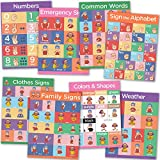 Sign Language Posters for Classroom - 8 Pack of ASL Posters for Kids...