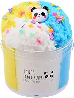 Luckyunicorn Multi-Colored Cloud Slime with Panda Charm, Scented DIY Fluffy Sludge Mud Toy for Kids 7(oz)
