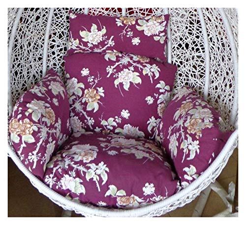 BDBT Swing Chair Cushion Hanging Rattan Swing Chair Soft Cushion, Hanging Egg Chair Cushion for Outdoor Garden Patio Hanging Wicker Weave Furniture (Color : E)