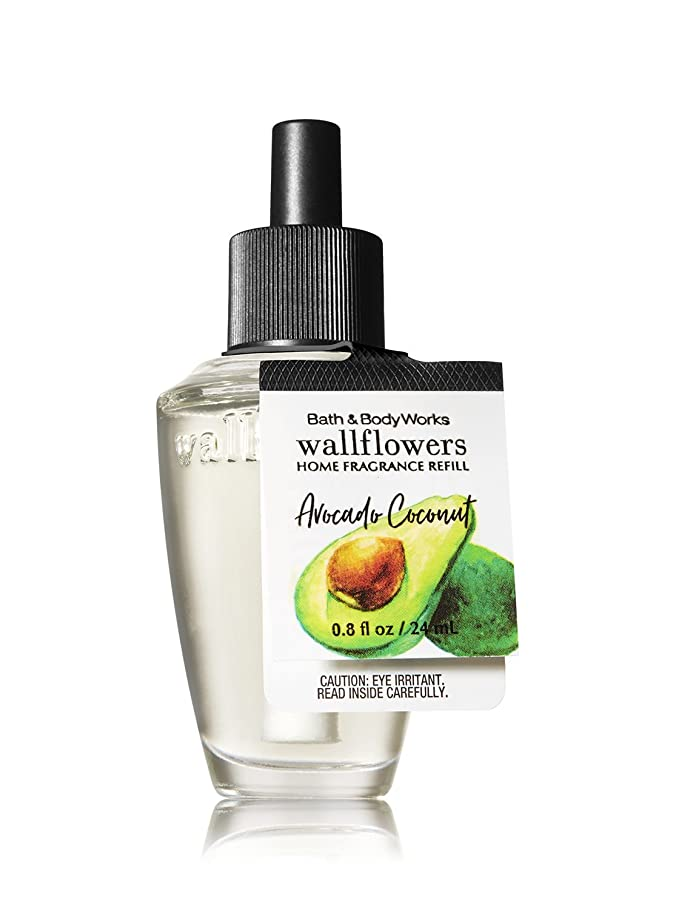 にやにや任命杖【Bath&Body Works/バス&ボディワークス】 ルームフレグランス 詰替えリフィル アボカドココナッツ Wallflowers Home Fragrance Refill Avocado Coconut [並行輸入品]