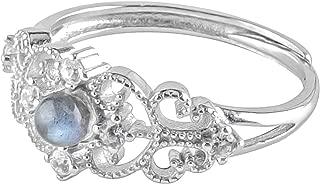 Caratyogi Naturel Pierre pr/écieuse de pierre de lune 6.5/CT v/éritable Courroie pour la confection de bijoux de qualit/é AAA