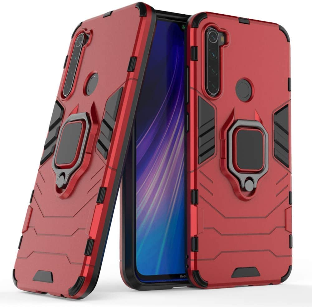 Amazon Com Case For Xiaomi Redmi Note 8 Dwaybox Ring Holder Iron Man Design 2 In 1 Hybrid Heavy Duty Armor Hard Back Case Cover Compatible With Xiaomi Redmi Note 8 6 3 Inch Red