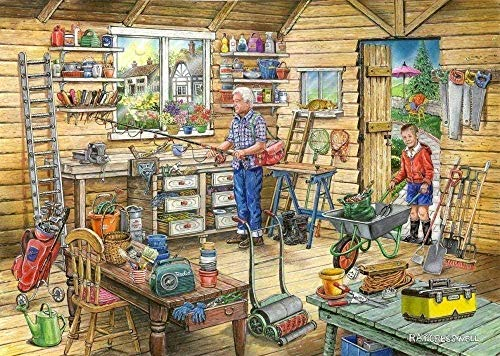 baozge TOPHHH Fred's Shed Puzzle 1000 Pieces Cardboard Adults Children Educational Toys Home Decorative