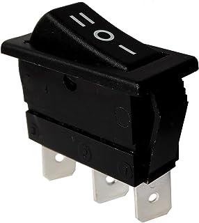 AERZETIX: Interruptor conmutador basculantes de boton SPDT ON-OFF-ON 16A/250V 20A/28V, 3 posiciones C10831