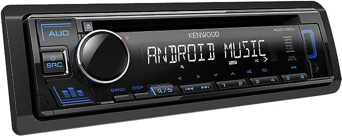 Kenwood Kdc 130ug Cd Car Radio With Rds High Performance Tuner Usb Aux Input Android Control Bass Boost 4 X 50 Watt Green Black Navigation Car Hifi
