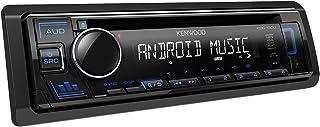 Kenwood KDC 130UB CD Autoradio mit RDS (Hochleistungstuner, USB, AUX Eingang, Android Control, Bass Boost, 4x50 Watt, Blau) Schwarz