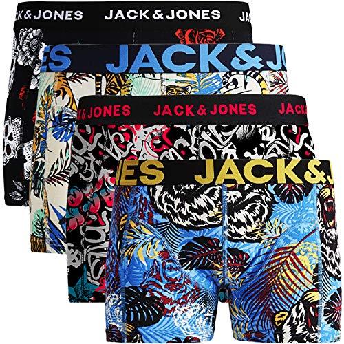 JACK & JONES Trunks 4er Pack Boxershorts Boxer Shorts Unterhose S M L XL XXL (XL, Paint #26)