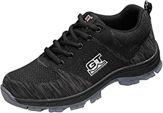 D DOLITY Breathable Steel Toe Cap Safety Shoes - Men Outdoor Anti-slip Steel Puncture Proof Construction Boots,Work Shoes - 9 -Sizes - EU 44 US 10 UK 9.5