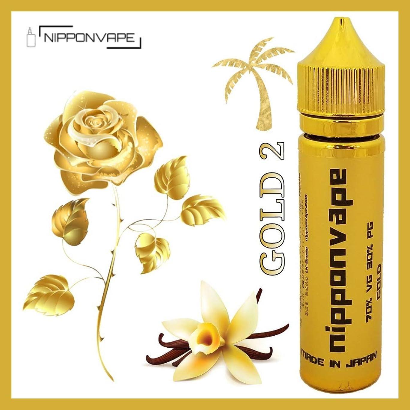 マッサージ邪悪な販売計画60ML 電子タバコ リキッド プレミアム ゴールド シリーズ バニラ ローズ NIPPONVAPE GOLD 2