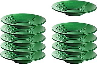"SE Green 14"" Plastic Gold Pans (10-Pack)"