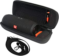 Hard Travel Case Compatible for JBL Charge 3 JBLCHARGE3BLKAM Waterproof Portable Bluetooth Wireless Speaker (Black). Extra Room for USB Cable and Charger .by PAIYULE