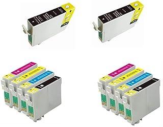 Bramacartuchos - 10 X Cartuchos compatibles NON OEM para Epson T1281-1284 BX 305F, BX305 F, BX305FW, BX306 FW +, Epson Stylus S22, SX125, SX130, SX235W, SX420W, SX425W, SX435W, SX438, SX440w, SX445W,