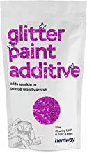 "Hemway Rose Pink Glitter Verf Additief Chunky 1/40"" 0.6mm voor Emulsie Watergedragen Verven - Interieur & Buitenmuur, Plaf..."