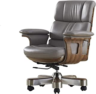 WSJTT Office Chairs for Heavy People Office Chairs with Wheels and Arms Office Guest Chair with Back Support,Leather Execu...