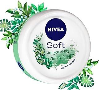 NIVEA Soft, Light Moisturising Cream, Chilled Mint, 200ml