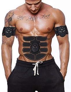 starvido Estimulador Muscular Toner Abdominal Toning Belt Trainer Ultimate Body Fitness Belt Máquina de Ejercicios para Hombres, Mujeres, Brazos, Piernas, Abdomen, Tóners EMS